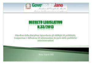 Decreto Amministrazione Trasparente
